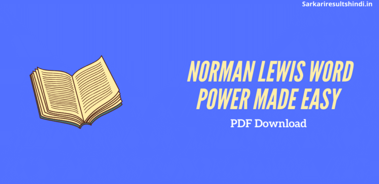 Norman Lewis Word Power Made Easy pdf download